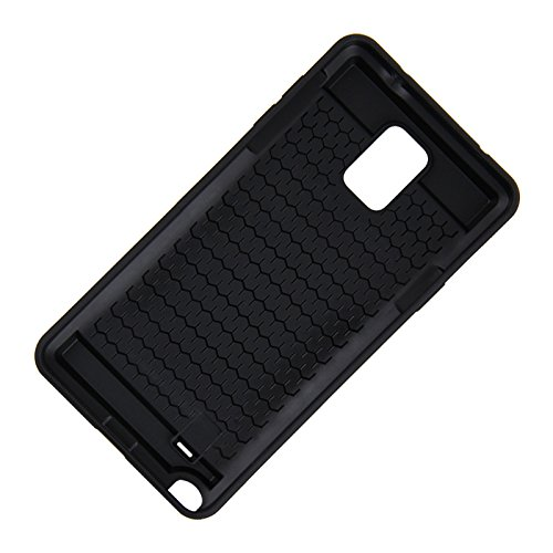Telefon-Kasten - TOOGOO(R)Karte Tasche Stossfeste Duenne Hybrid Mappe Abdeckung fuer Samsung Galaxy Note 4 Grau