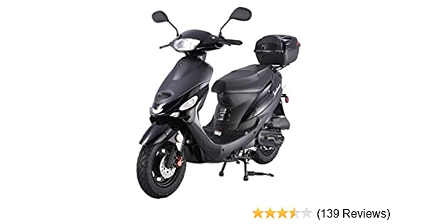 TAO SMART DEALSNOW Brings Brand New 50cc Gas Fully Automatic Street Legal  Scooter TaoTao ATM50-A1 with Matching Trunk - Sporty Black