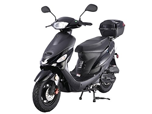 TAO TAO Brand New Gas 49cc Moped Scooter w/ Rear Mounted Storage Trunk - Black Color