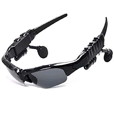 JAY-LONG Bluetooth 4.2 Smart Sports Glasses, Polarized Sunglasses, Anti-Glare, USB Charging, Voice Control, Bluetooth Calls, Comes with A Microphone
