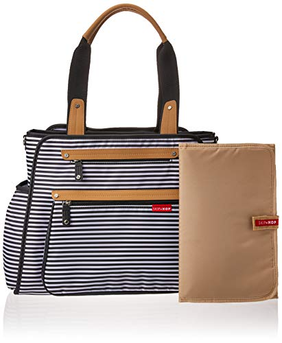 Skip Hop Diaper Bag Tote with Matching Changing Pad, Grand Central, Black & White Stripe by Skip Hop (Image #6)