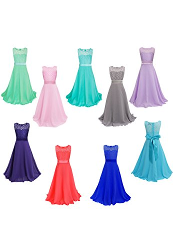 Special OMZIN Big Dresses Occasion Girls OMZIN Big Blue qrfwErI