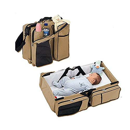 Diaper Bags - By Boxum Baby - Stylish 3 in 1 Multi-Functional - Travel Diaper Bag - Portable Bassinet & Changing Pad Station - Essential For Mom & Perfect Baby Shower Gift for Newborn Boy Girl