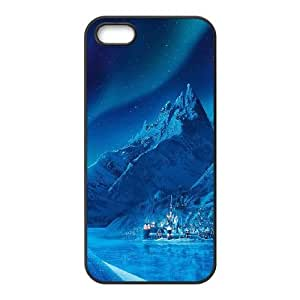 iPhone 4 4s Cell Phone Case Black ac70 elsa frozen castle queen disney illust snow art SUX_964179