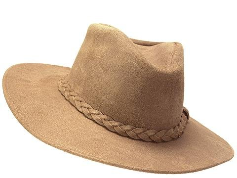 - Minnetonka Western Hat Adult Outback Versatile Leather M Tan 9501