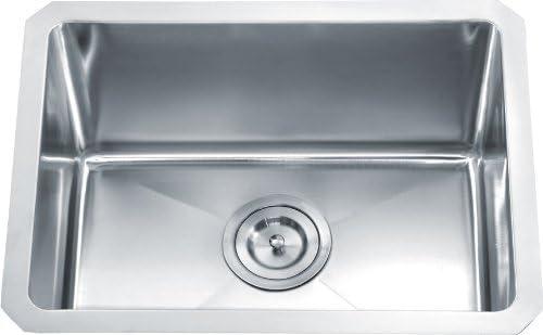 Dowell Undermount Single Bowl 16 Gauge Kitchen Stainless Steel Sinks Handcrafted Small-radius Corner Series 6008 2015