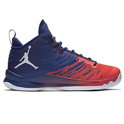 Jordan Nike Men's Super.Fly 5 Deep Royal Blue/Wht/Infrrd 23 Basketball Shoe 10.5 Men US