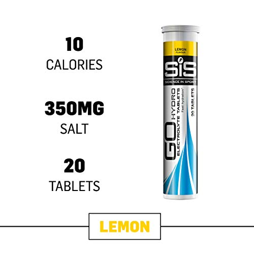 (Science in Sport Go Hydro Electrolyte Tablets, Lemon Flavor Hydration & Endurance Supplement - 20 Tablets)