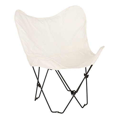 Butterfly Catalog - Fat Catalog Metal Butterfly Chair, Cream,
