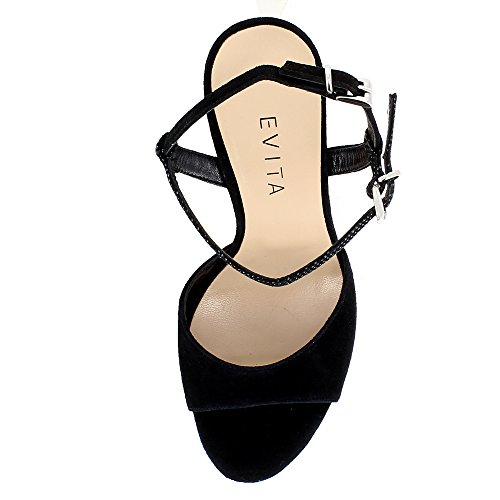 Evita Shoes Valeria - Sandalias de vestir de Piel para mujer negro