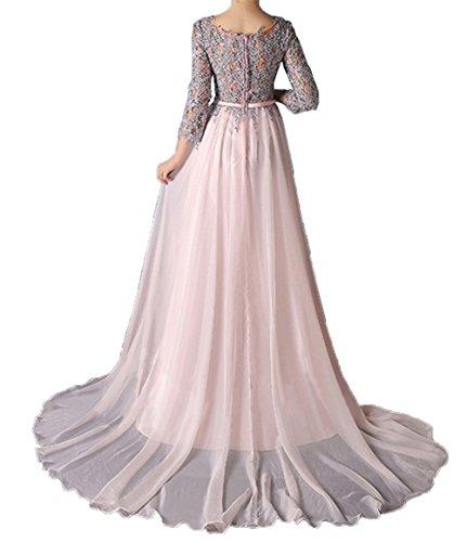 Brautmutterkleider Damen Linie Prinzess Festlichkleider Langarm Spitze A Charmant Abendkleider Rock Partykleider Grün Y4dzF