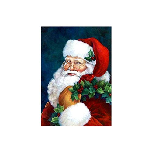Diy Oil Painting Acrylic Paint By Number Of Children And Adults,Christmas Wreath Santa Claus ()