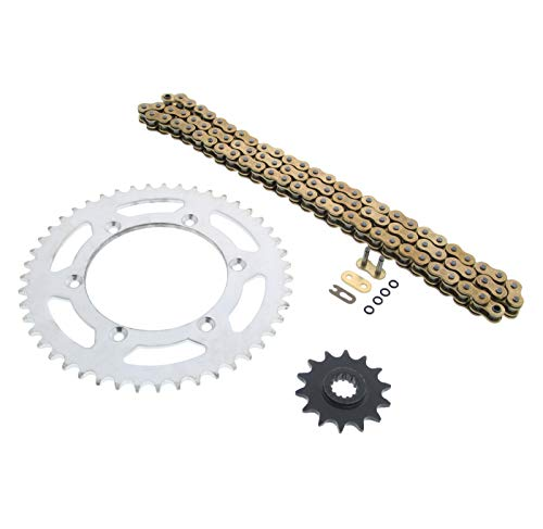 520-112L Gold O Ring Chain and Sprocket Silver 14/47 Suzuki DR-Z400 2000-2003