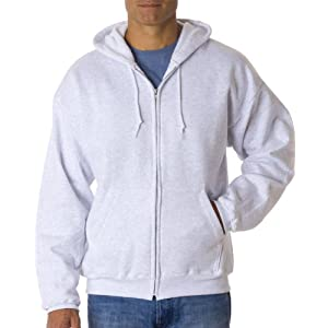 Hanes Men's ComfortBlend Full-Zip Hood 7.8 oz, Medium, Ash