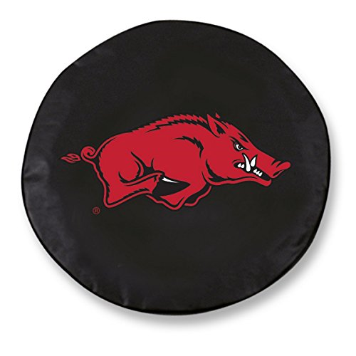 Arkansas Razorbacks HBS Black Vinyl Fitted Spare Car Tire Cover (33