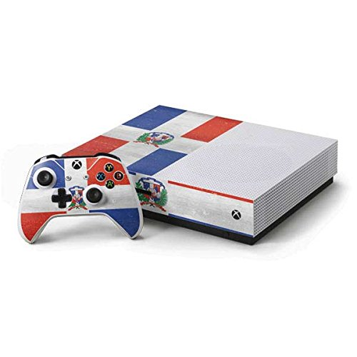 Countries of the World Xbox One S Console and Controller Bundle Skin - Dominican Republic Flag Faded   Skinit Lifestyle (Dominican Republic Bundle)