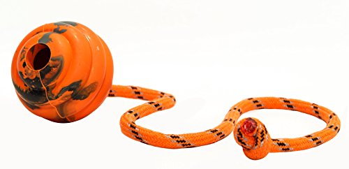 PlayfulSpirit Durable Natural Rubber Ball on a Rope - Perfect Dog Training, Exercise and Reward Tool - Medium Size Dog Toy for Fetch, Catch, Throw and Tug War Plays – Happy Playtime Guaranteed