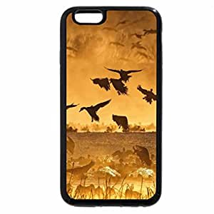 iPhone 6S / iPhone 6 Case (Black) ducks and cranes on a lake at a golden sunrise