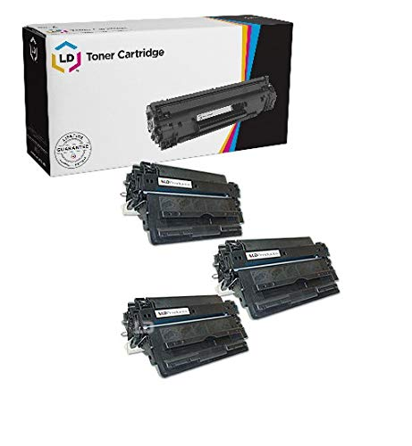 LD Remanufactured Toner Cartridge Replacement for HP 16A Q7516A (Black, 3-Pack) ()