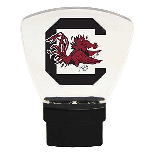 Authentic Street Signs NCAA Officially Licensed-LED NIGHT LIGHT-Super Energy Efficient-Prime Power Saving 0.5 watt, Plug In-Great Sports Fan gift for Adults-Babies-Kids Room (South Carolina Gamecocks) -