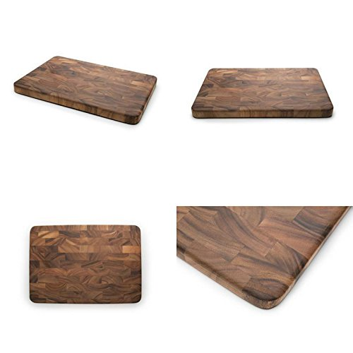 GOOD MEDIA Wood Cutting Board Large End Grain Prep Station Kitchen Tool Food Serving Board ✅