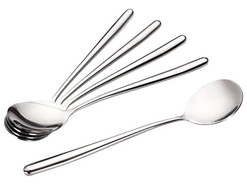 Xujia Store Soup Spoons,Long Tablespoon,Stainless Steel Long Handle Spoons,Pack of 5. ()