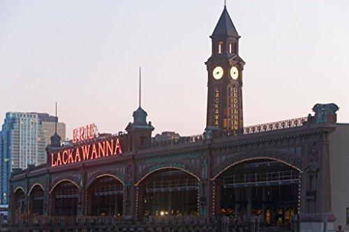 New Jersey Train (Old Train Station Lackawanna Railroad Terminal Hoboken New Jersey Photo Art Print Poster 18x12 inch)