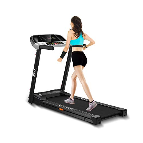 IPO Treadmill Electric Portable Treadmill Running Machine with Wheels Easy Assembly