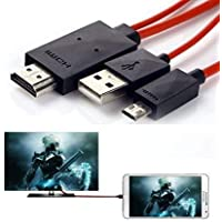 6.5ft Micro USB to HDMI Cable Adapter MHL for Samsung Galaxy S3/S4/S5, Note 2, Note 3, Note 8.0, Note 10.1 to 1080P HDTV…