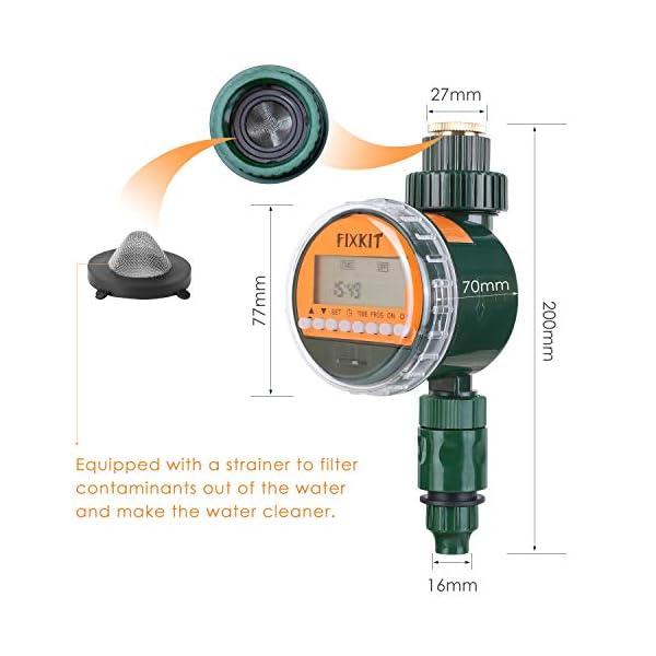 FIXKIT Programmatore di Irrigazione,Timer Irrigazione Automatico con LED Display, Elettrovalvola Irrigazione Giardino… 5 spesavip