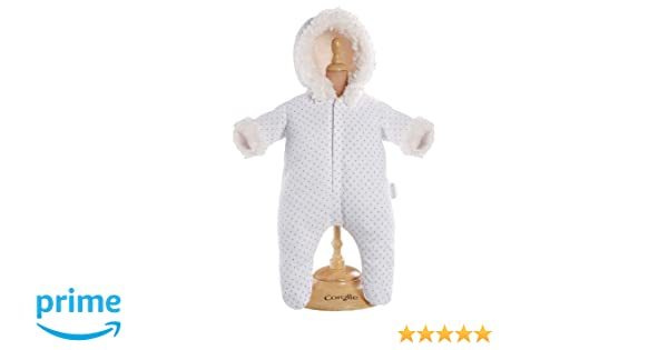 c05eca124 Amazon.com  Corolle Mon Classique White Snowsuit for 17