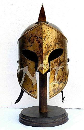 nasir ali moonflag Halloween Armor Helmet King Leonidas Helmet Spartan Roman 300 Costume Helmet ()