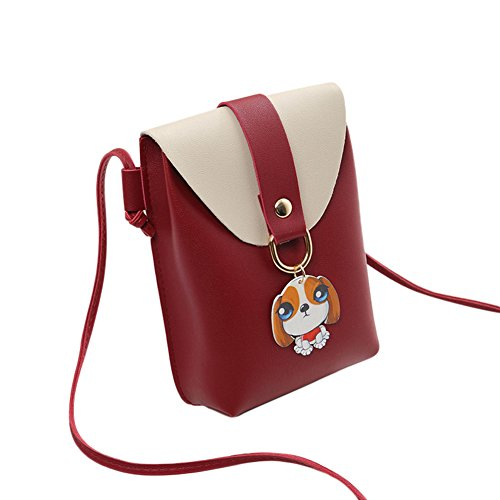 Smartphone del del paquete Bolso bolsa la de dinero de de Shoulder duradera de señora Crossbody bolso del Red manera la Majome O6xvnSdzz