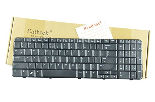 Eathtek Replacement Keyboard for HP Compaq CQ60 CQ60Z G60 G60T G60-453 G60-454 G60-507 G60-508 G60-513 G60-552 G60-553 G60T-600 G60-630 G60-633 G60-635 G60-637 G60-642 G60-645 Series Black US - 630 Us