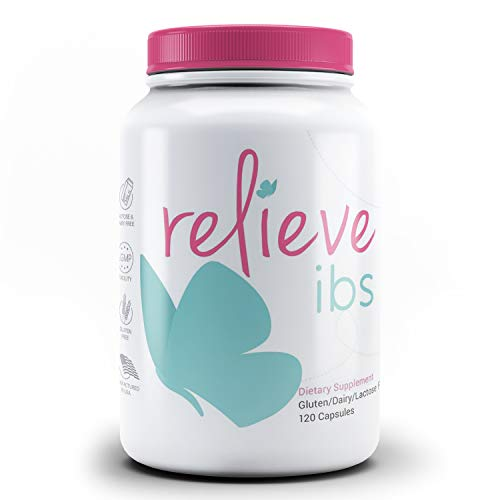 Natural IBS Relief Supplement for Women - 120 Capsules For Irritable Bowel & Stomach | Promote Digestive Health, Relieve Abdominal Pain, Gas, Bloating, Constipation, Diarrhea, Leaky Gut by Relieve IBS (Best Fiber For Ibs)
