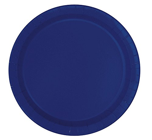 2 Packs of 16 Unique 9 inches Navy Blue Paper Plates bundled by Maven Gifts