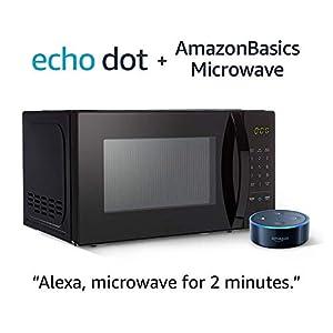 AmazonBasics Microwave with Echo Dot (2nd Gen) - Black