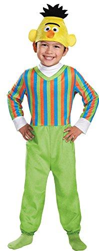 Bert Deluxe Toddler Costume, Medium (Bert Sesame Street Halloween Costume)