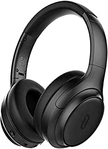 Active Noise Cancelling Headphones [Upgrade], TaoTronics Bluetooth Headphones SoundSurge 60 Over Ear Headphones Sound Deep Bass, Quick Charge, 30 Hours Playtime for Travel Work TV PC Cellphone
