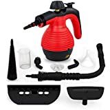Comforday Multi Purpose Carpet High Pressure Chemical Free Steamer w Perfect for Stain Removal, Curtains, Car Seats,Floor,Window Cleaning, Red