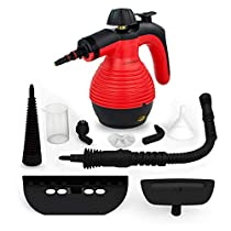 Handheld Steam Cleaner by Comforday - Multi-Purpose Pressurized Steam Cleaner with Safety Lock for Stain Removal, Carpet and Upholstery Cleaning - 9-Piece Accessory Kit Included (Upgrade)