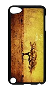 Ipod 5 Case,MOKSHOP Cute grunge nature art Hard Case Protective Shell Cell Phone Cover For Ipod 5 - PC Black