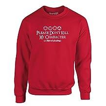Brand88 - Please Don't Kill My Character, Kids Printed Sweatshirt