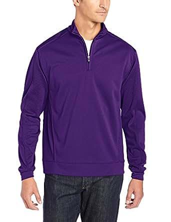 Cutter & Buck Men's CB Drytec Edge Half-Zip, College Purple, Small