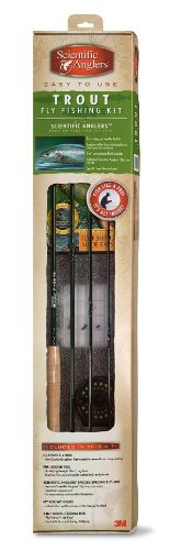 Scientific Anglers 4-Piece Fly Fishing Trout Outfit (9-Feet 0-Inch, 5/6 Weight), Outdoor Stuffs