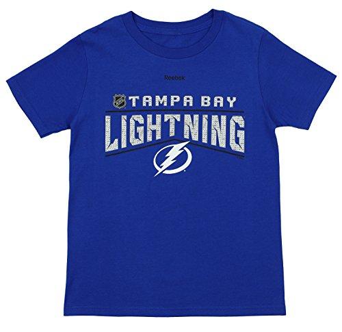 - NHL Youth's Tampa Bay Lightning Short Sleeve Freeze Reflect Tee, Blue Medium (10-12)
