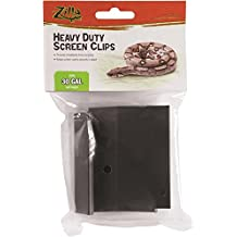 Zilla 30-Gallon and Under Screen Cover Metal Clips, Large