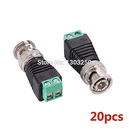 Lot 20 pcs Coax CAT5 To Camera CCTV BNC Video Balun Connector