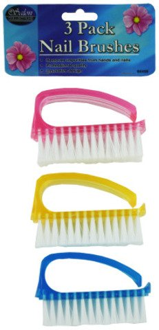 Nail Brush set - White, Yellow, Blue, Pink Case Pack 12 (Opi Crystal File Pack Of 12 compare prices)