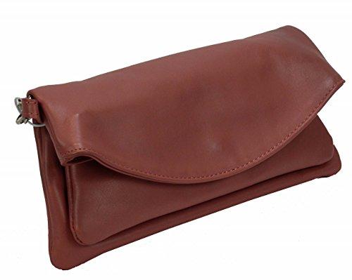 Bozana Bag Maya Rosa italy Designer Leder Clutch Handtasche Schulter Tasche Neu